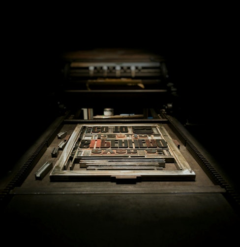 printing press unsplash Marco Djallo