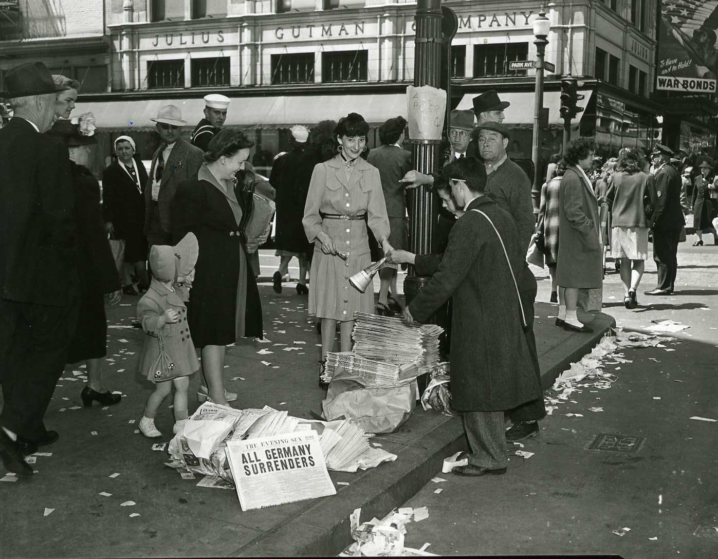 Victory in Europe (VE) Day in Baltimore