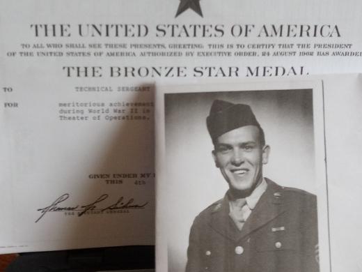 Grandpa and certificate